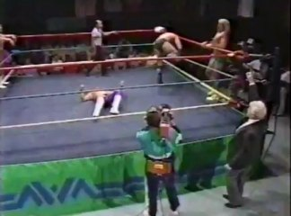 66. 89-01-21 Ric Flair & Barry Windham vs. Ricky Steamboat & Eddie Gilbert (World Championship Wrestling)