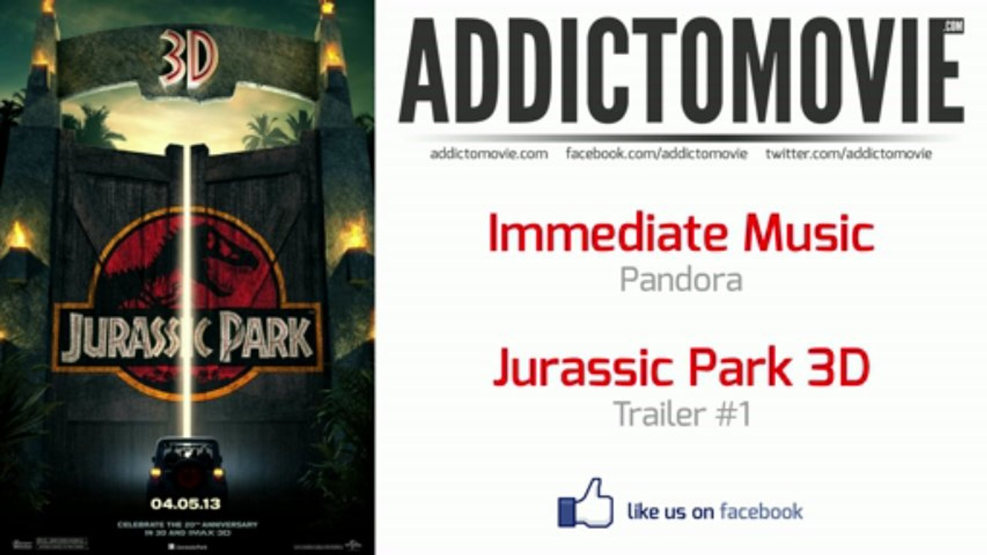 Jurassic Park 3D - Trailer #1 Music #2 (Immediate Music - Pandora)