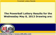 Powerball Lottery Drawing Results for May 8, 2013