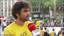 Camisetas amarillas contra los recortes en educación