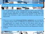 Commercial catering equipment, restaurant kitchen equipment