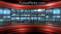 Golden St Warriors versus San Antonio Spurs Pick Prediction NBA Playoffs Game 3 Odds Preview 5-10-2013