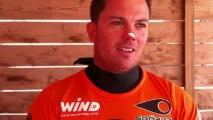 Défi Wind 2013 - Interview de Nicolas Warembourg après sa 2ème place sur la manche n°3
