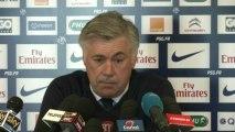 """Ancelotti : """" Ne pas parler avec l'arbitre et surtout...ne pas toucher l'arbitre"""