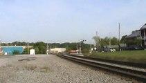 Norfolk southern Triple Crown roadrailer train southeast through Austell Ga.