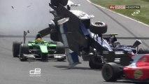 GP2 2013 Spain Race1 Berthon Huge Crashes