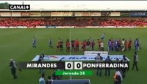 Liga Adelante  Mirandés 0  Ponferradina 0