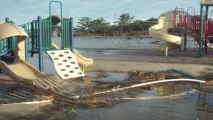 Hurricane Sandy Raw Footage Aftermath - Seaside Heights Jersey Shore, NJ