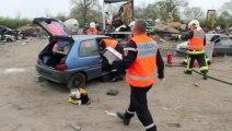 Reportage : manoeuvre de désincarcération avec les sapeurs-pompiers de Moulins (SDIS 03)