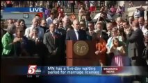 Gov. of Minnesota Signs Gay Marriage BIll into Law