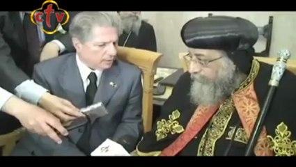 Visite du Pape Tawadros II au Vatican : Rencontre avec M. Amine GEMAYEL, ancien Président de la république du Liban
