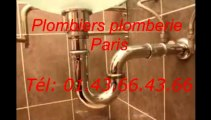Plombiers plomberie paris Tél: 01.43.66.43.66