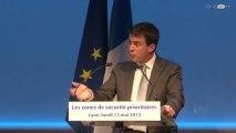 Intervention de Manuel Valls lors du 1er bilan de la mise en oeuvre des zones de sécurité prioritaires