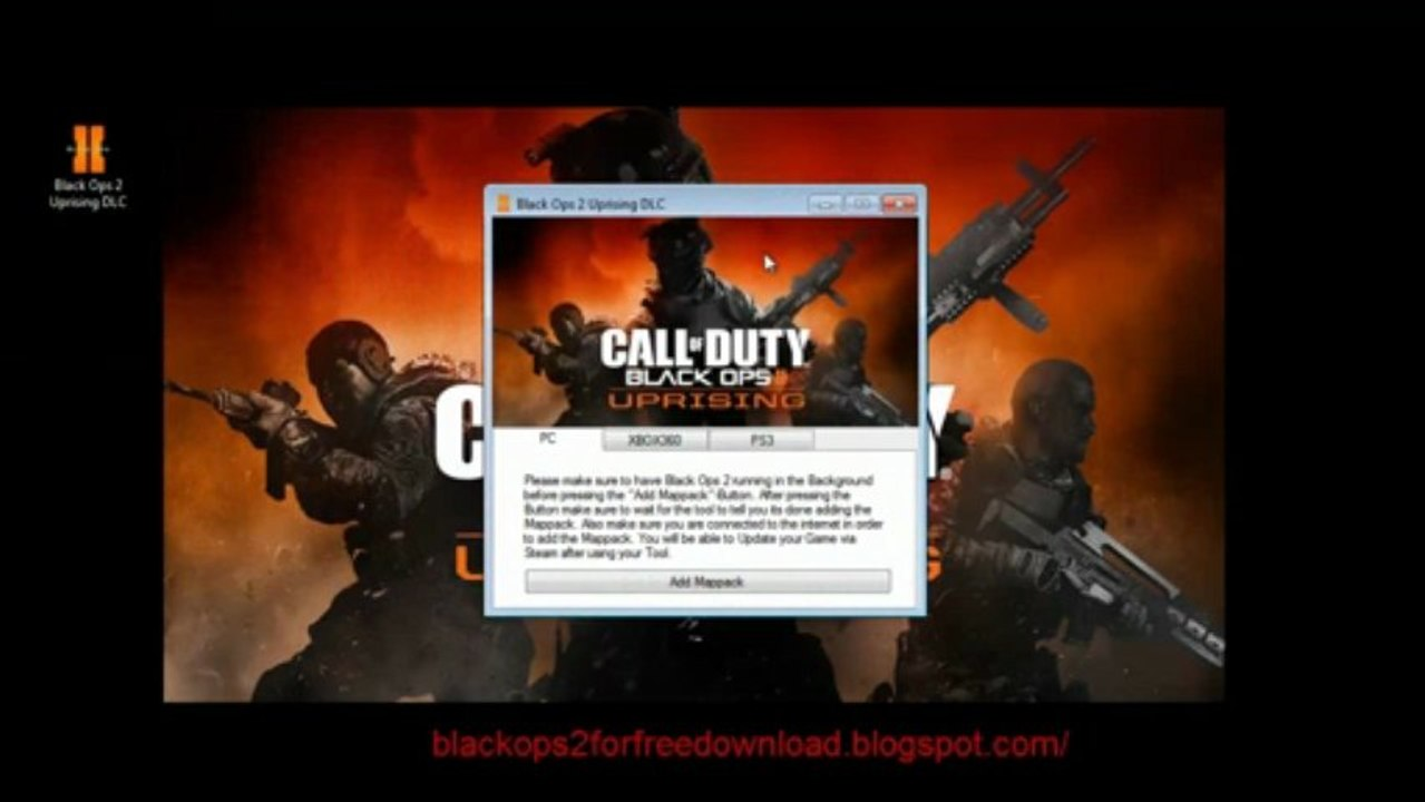 Get Black Ops 2 Uprising DLC for Free on XBOX360 PS3 PC