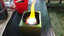 LOGOS製コンロに市販の固形燃料を使う /  LOGOS made pocket tablet stove set by use of commercial solid fuel (part 3)