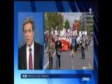 France 3 ,Manifestation des infirmières et Aide Soignantes NB3NP à la Bastille,Paris
