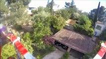 Drone HX4 avec GoPro : Vue aérienne du jardin