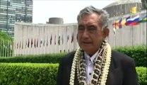l'Assemblée générale de l'ONU a adopté ce vendredi la résolution plaçant la Polynésie française sur la liste des pays à décoloniser