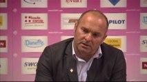 Conférence de presse Evian TG FC - Valenciennes FC : Pascal DUPRAZ (ETG) - Daniel  SANCHEZ (VAFC) - saison 2012/2013