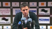 Conférence de presse OGC Nice - Olympique Lyonnais : Claude  PUEL (OGCN) - Rémi GARDE (OL) - saison 2012/2013