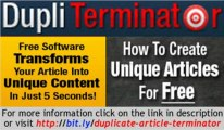 Software Turns Duplicate PLR Articles Into Unique Articles   Software Turns Duplicate PLR Articles Into Unique Articles