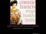 Connie Francis sings Buddy Holly ~ Raining in My Heart ~