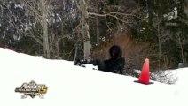 Chutes en série pour Nabilla au ski !