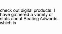 Beating Adwords. | Beating Adwords.