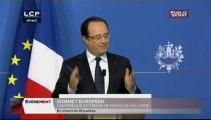 EVENEMENT, Conférence de presse de François Hollande au sommet européen le 22 mai 2013