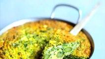 Frittata aux asperges et aux petits pois