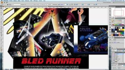 Making of Illustrator - Affiche Bled Runner