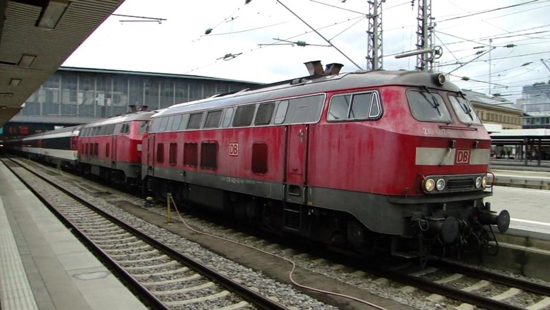 Lokomotiva 218 402-6 a 218 404-2 - München Hbf., 19.5.2013 HD