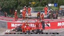 Formula 1 Monaco 2013 Massa Crashes
