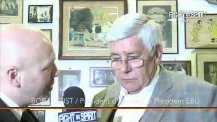 ITV. Mr  Bob LOGIST . Président de la Fédération de boxe Anglaise Européenne  EBU