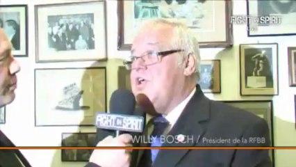 ITV.Mr Willy BOSCH Président de la RFBBOXE  Anglaise .