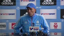 Conférence de presse Olympique de Marseille - Stade de Reims : Elie BAUP (OM) - Hubert FOURNIER (SdR) - saison 2012/2013