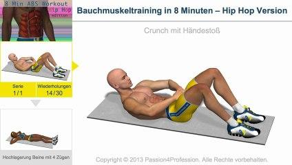 Bauchmuskeltraining in 8 Minuten – Hip Hop Version