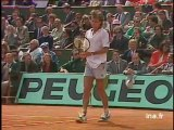 Demi finale à Roland Garros 1988 : étourderie d'Agassi - Archive vidéo INA