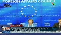 Unión Europea levanta el embargo de armas a rebeldes sirios