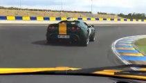 Lotus Elise S1 chasing Elise SC Le Mans Bugatti