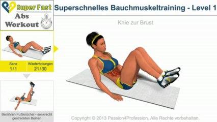 Superschnelles Bauchmuskeltraining - 1. Level