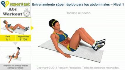 Entrenamiento súper rápido para los abdominales – Nivel 1
