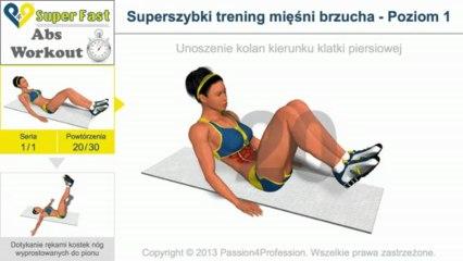 Superszybki trening mięśni brzucha - Poziom 1