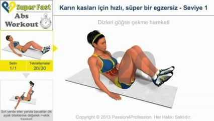Karın kasları için hızlı, süper bir egzersiz - Seviye 1