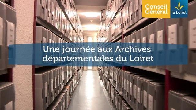 Une journée aux Archives départementales du Loiret