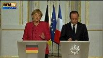 """Angela Merkel appelle par erreur François Hollande """"François Mitterrand"""" - 30/05"""