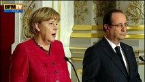 En public, François Hollande et Angela Merkel veulent de donner l'image de bons amis - 30/05
