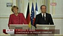 Evénement - Émission spéciale : Conférence de presse d'Angela Merkel et de François Hollande