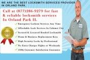 24 hour locksmith service  in Orland Park IL (877)286-9279