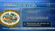 Lucha contra el narcotráfico, tema central en Asamblea 43 de la OEA